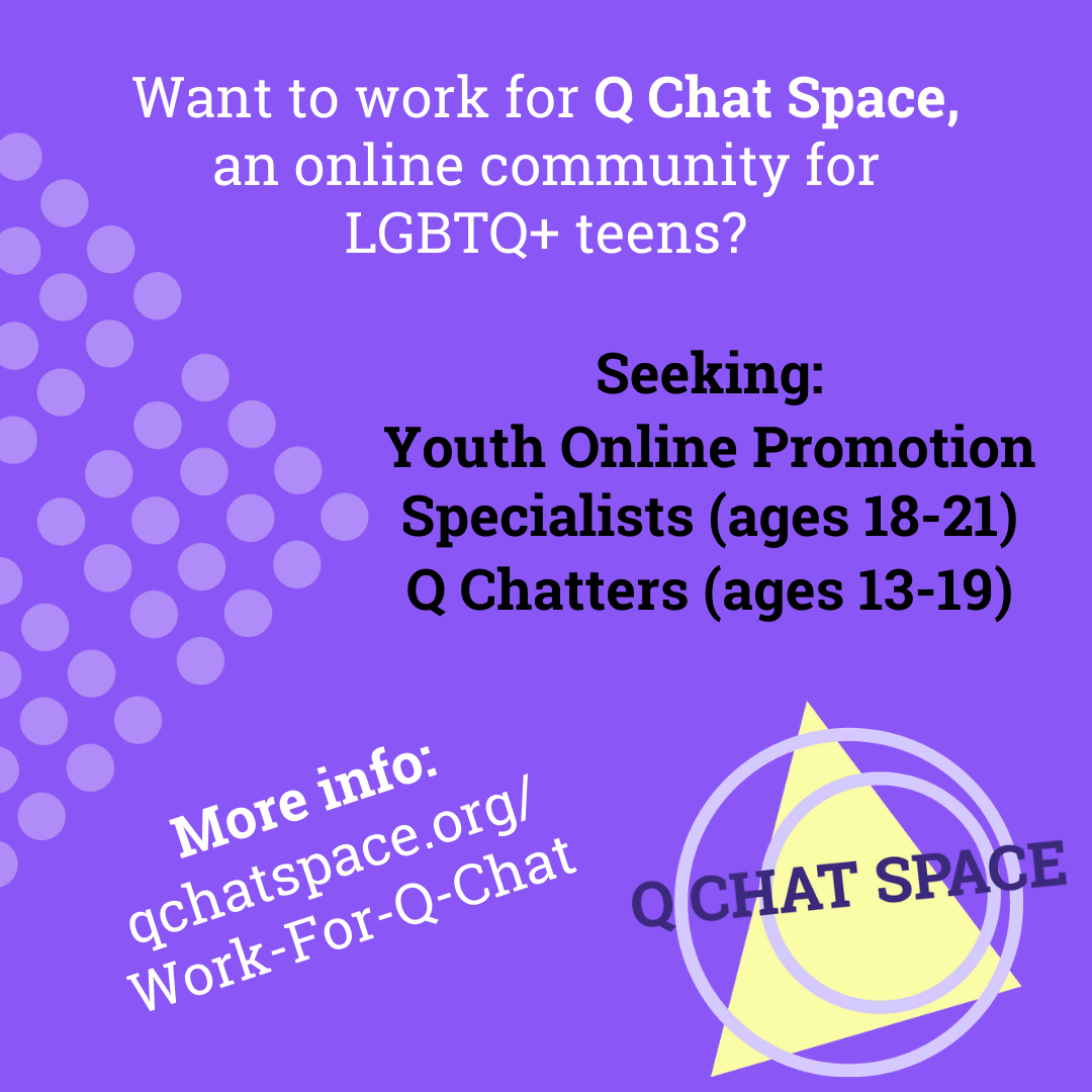 social media graphic for youth advisor positions
